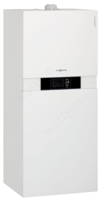 VIESSMANN Котел конденсационный Vitodens 222-F B2SB с емкостным водонагревателем (130 л) 2,6-24 кВт, с Vitotronic100 HC1B