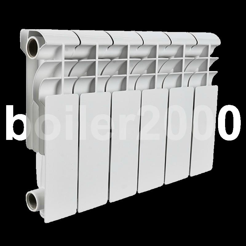 STOUT Bravo 350 8 секций радиатор алюминиевый боковое подключение